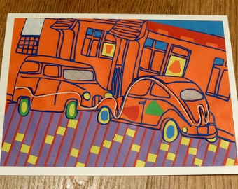 Car collage card