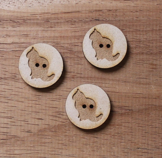 8 pieces.Cat Farmyard.Round Buttons,3 cm Buttons -Acrylic and Wood Laser Cut-Jewelry Supplies-Little Laser Lab Wood and Acrylic Products