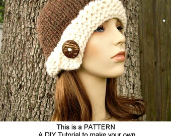 Instant Download Knit Hat Knitting Pattern - Knit Hat Pattern Chunky Cloche Hat Pattern - Womens Beanie Pattern - Womens Accessories