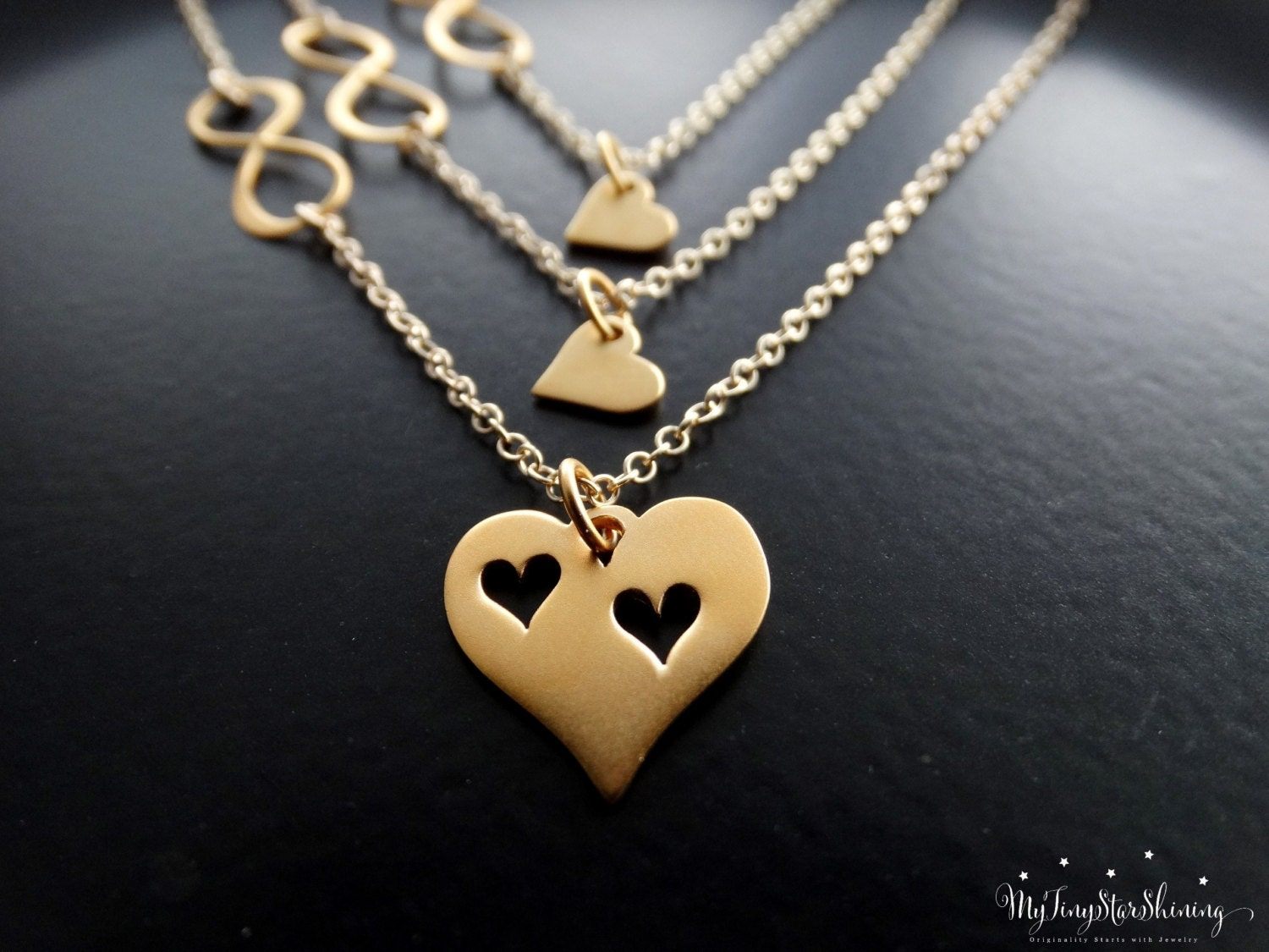 or mother gold necklace daughter silver infinity products rose