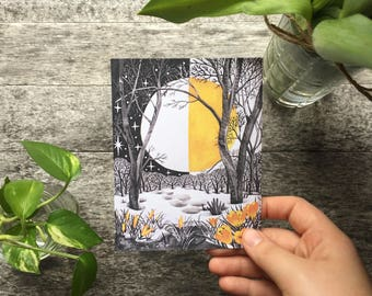 Spring Equinox || Postcard