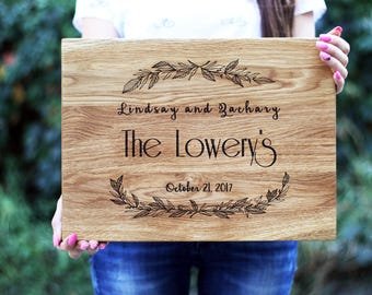 Wedding Gift for Couple - Personalized Cutting Board - Custom Wedding Gifts - Engraved Cutting Board - Newly Weds Gift  Anniversary Gifts H3