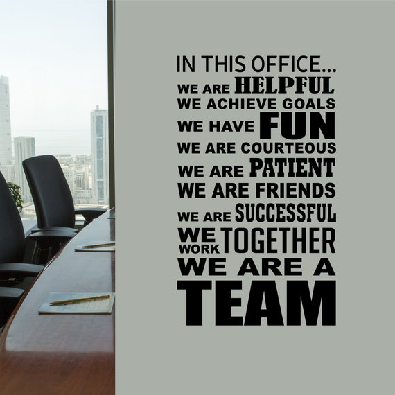 In this office team vinyl wall lettering vinyl wall decals for Party wall act letter to neighbour