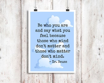Dr. Seuss Print/ Digital Download / Nursery Decoration