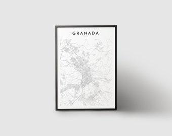 Granada Map Print