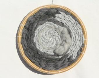 "Contemporary round weaving ""Street"" / Circle weaving/ Modern round weaving/circular weaving"