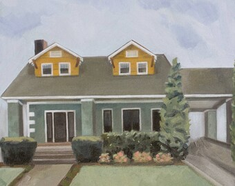 Custom House Portrait - Painting of Home - Painting of Building
