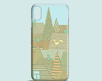 Golden Rooftops phone case / city iPhone X case / iPhone 8, iPhone 7, 7 Plus, iPhone SE, iPhone 6S, iPhone 6, iPhone 5 / cityscape iPhone