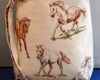 Horse Handmade Handbag Large Hipster Bag