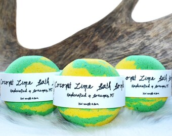 Coconut Lime Bath Bombs - Bath Bombs - Bath Bombs Bulk- Wholesale Bath Bombs - Gifts for Her - Easter Gifts - Mothers Day Gifts