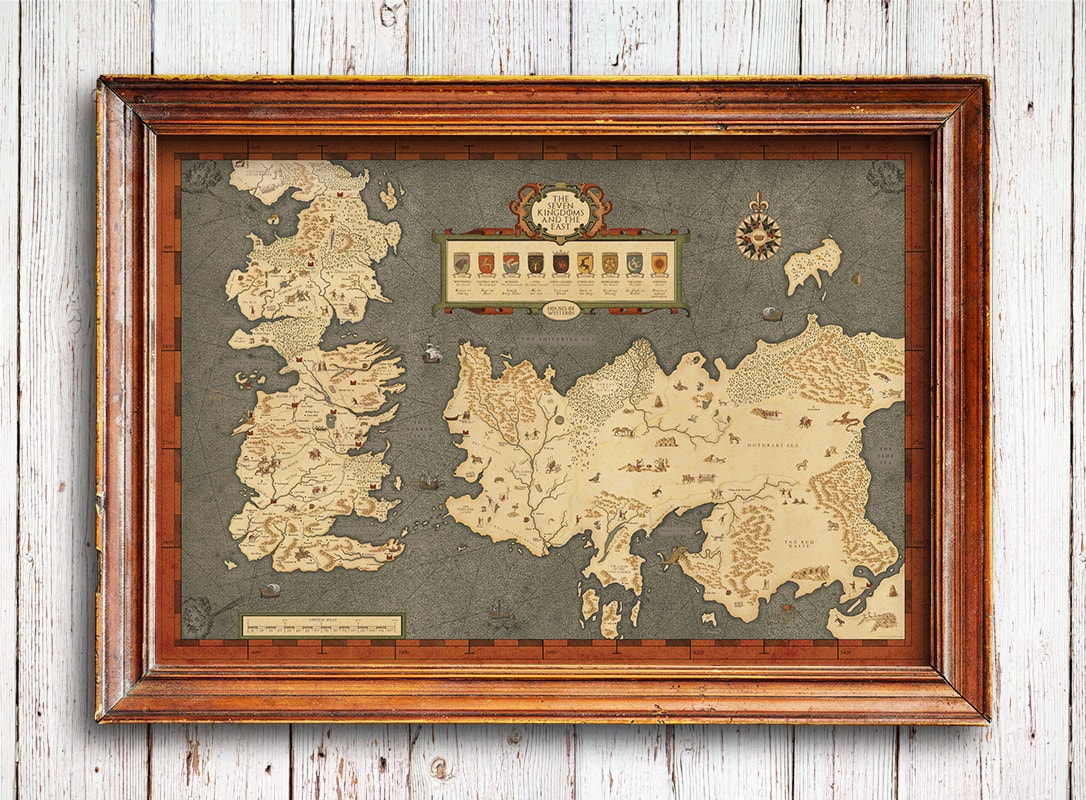 Houses of Westeros map Map of The Seven Kingdoms and the free