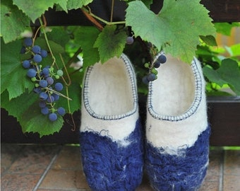 SPRING SALE Eco friendly felted slippers from natural wool
