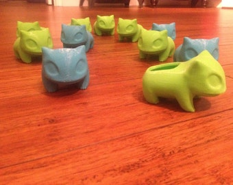 Bulbasaur Planter (LARGER) , Pokemon Planter , Pokemon , Bulbasaur ,3D printed, Cute, Best Christmas Gift, Monster,Geekery, Stocking Stuffer