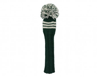 Green and White Fairway Golf Headcover