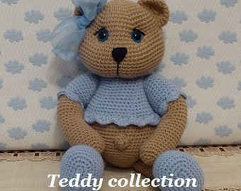 PATTERN: Teddy Collection  Amigurumi Pattern  in English and Spanish