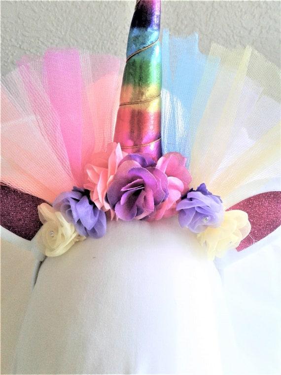Unicorn Headbands, Rainbow Unicorn, Girls Party Headbands,Birthday Unicorn headbands, Party favors