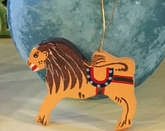 Vintage Lion Christmas Ornament