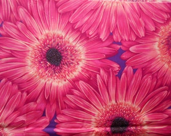 The Woodrow Studio Blooming Glory Cotton Fabric, Pink Sunflower, Fat Quarter