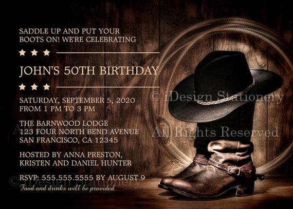 Einladungskarten Western Geburtstag Zum 50 | sofiatraffic.info
