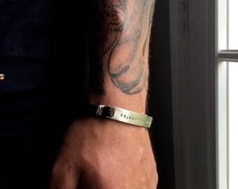Medical Alert Bracelet - Medical Alert Jewelry - Medical ID Bracelet - Guys Medical Alert - Mens Medical Alert - Mens Cuff Bracelet - M5014