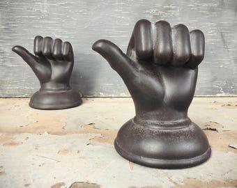 Ceramic Hand Wall Hanger, Victorian Revival, Goth Decor, Oddity Decor, Wall Hook, Hand Decor, Gift for Artist, Shelf Decor, Hand Figurine
