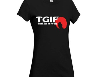Thank God It's Fro'Day Afro T-shirt Afrocentric Clothing