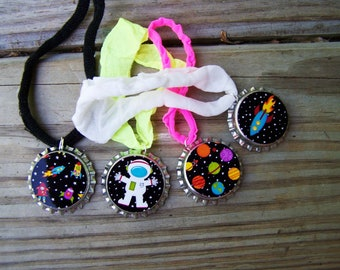 Outer Space Astronaut Birthday Boy Girl Classroom Class Gift Party Favor Stretchy Bracelet 12pk