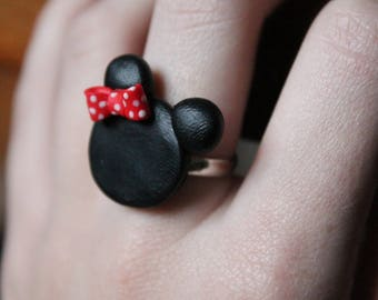 Minnie polymer clay ring