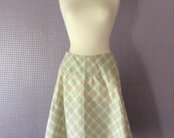 Vintage 1950's check swing skirt