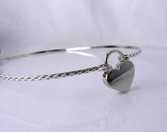 Made-To-Order Twisted & Tied Rope Motif Sterling Silver Locks At the Back of the Neck Slave Collar