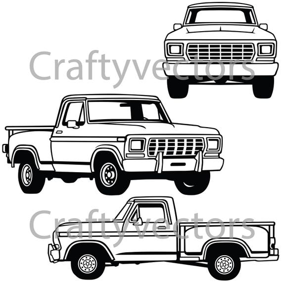 Ford stepside 1979 vector file freerunsca Choice Image