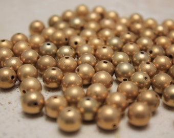 Vintage Matte 10mm Gold Beads (32 Pieces)