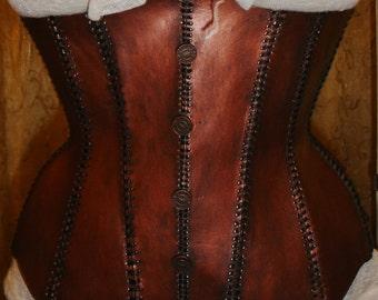 Custom Steampunk Copper Corset