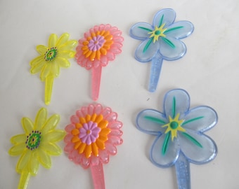 Vintage Cake Toppers Flowers Cupcake Toppers Flower Power Birthday Cake toppers Floral birthday cake Flower Birthday cake toppers