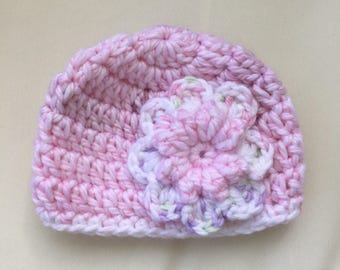 Baby Girl Hat with Flower