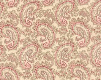 Paris Flea Market Favorites Shabby 3 Sisters Pink with Paisley Fabric BTY 3730-16
