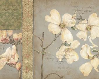 Beautiful Dogwood Tapestry II Panel 24x12 PRINT