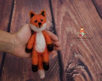 Felted Fox Newborn Photography Prop