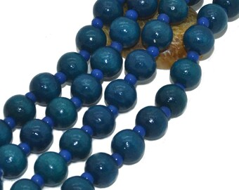 1 strand of 100 08mm blue wood beads
