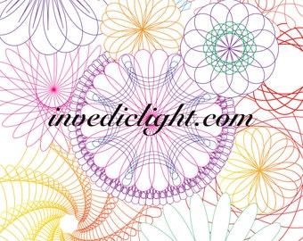 Spiro Graph Art! ~ Color and Fill