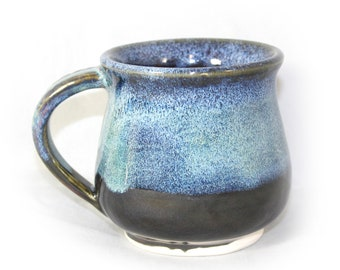 Electric Blue Auroras Ceramic Coffee Mug
