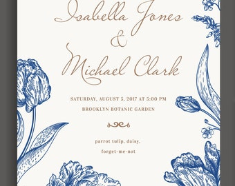 Wedding Invitation Printable Total Editable DIY (Complete Suite available upon request)