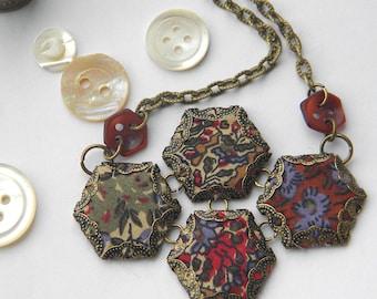 Hexie Quartet Necklace, Paisley