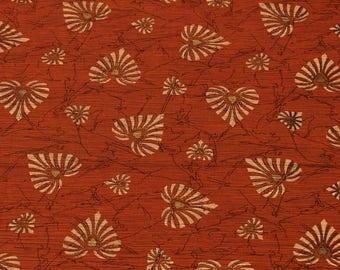 1 yard of Chiffon Fabric, Indian Polyester Fabric, Floral Print Chiffon Fabric, Red Fabric, Shibori Fabric