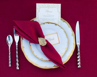 Burgundy napkins set of 6 - Linen napkins - Marsala napkins - burgundy wedding napkins - garden party napkins - dinner napkin cloths -