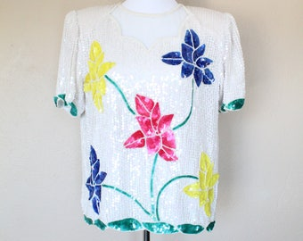 1980s Vintage Sequin Top