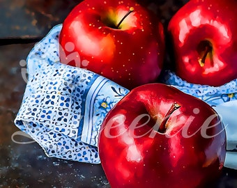 Fresh Red Apples Painting