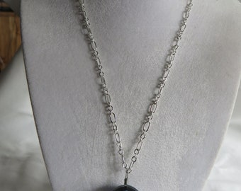 """18 1/4"""" Moon and Stars Necklace, Necklace/Silver Chains/Moon/Stars/Blue"""