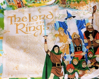 Vintage Lord of the Rings Twin Sized SHEET