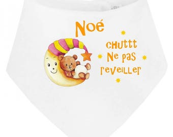 Baby bandana bib Shush wake not personalized with name